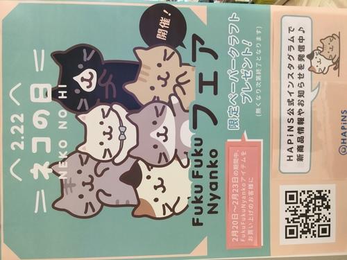 2/22ネコの日 にゃんこフェアー開催中です✨